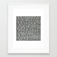 word Framed Art Prints featuring Word by Abstractink82