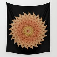 dahlia Wall Tapestries featuring Dahlia by Deborah Janke