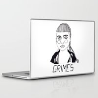 grimes Laptop & iPad Skins featuring Grimes by ☿ cactei ☿