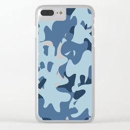 Camouflage Arctic style Clear iPhone Case