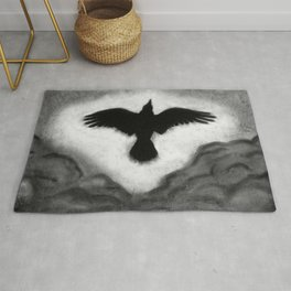 Flight of the Crow Rug