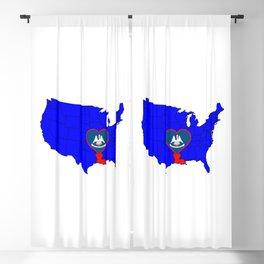 State of Louisiana Blackout Curtain