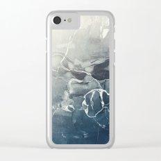 Ultramarine Marble Clear iPhone Case