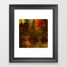 Pyramidal city Framed Art Print