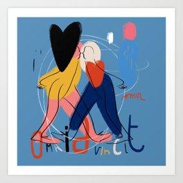 Omnia vincit amor Art Print