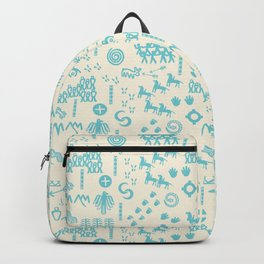 PeopleStory - Turquoise and Creme Backpack