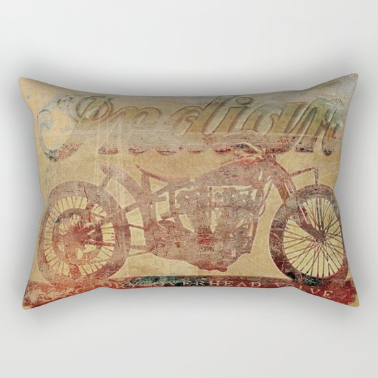 Indian - Vintage Motorcycle Rectangular Pillow