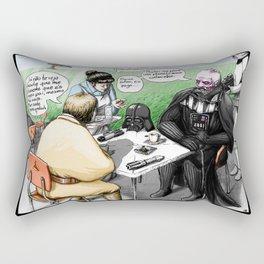 A falar é que as pessoas se entendem Rectangular Pillow