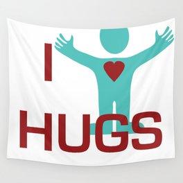 I heart Hugs Wall Tapestry