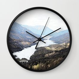Overlooking Kinlochleven , Scottish Highlands Wall Clock