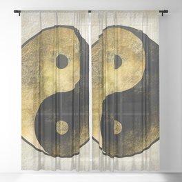 Yin and Yang Sheer Curtain