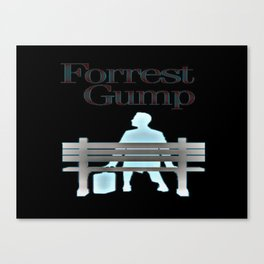 Forrest On The Bench Canvas Print