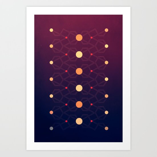 Connecting the dots Art Print