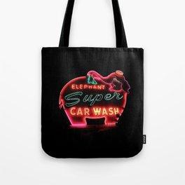 Elephant Car Wash Tote Bag