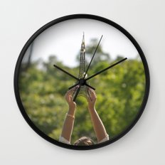The World On My Shoulders Wall Clock