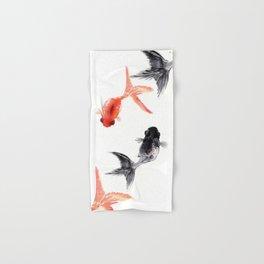 Two KOI , Feng Shui, Fish art, Hand & Bath Towel
