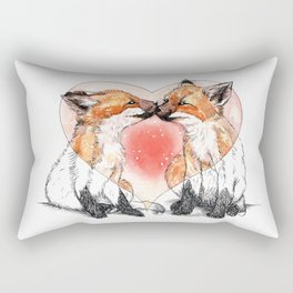 baby fox love Rectangular Pillow