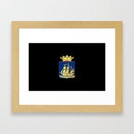 Coat of arms of IJlst Framed Art Print
