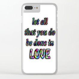 Love Quote Clear iPhone Case