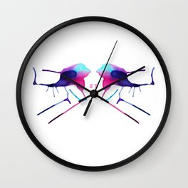 Rats on Skis Wall Clock