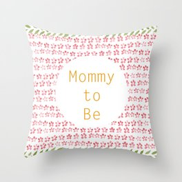 Mommy to be - watercolour pattern Throw Pillow