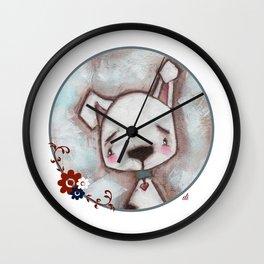 Dog  - by Diane Duda Wall Clock
