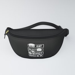 Eat Sleep Shoot Repeat - Camera Photography Photo Fanny Pack