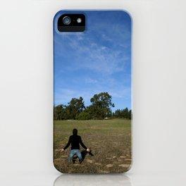 Man Kneeling iPhone Case