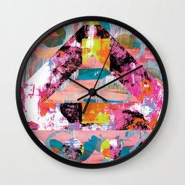 Heart Love Jesus Rainbow Wall Clock