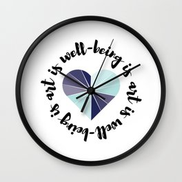 Art & Well-being Wall Clock