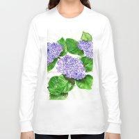 hydrangea Long Sleeve T-shirts featuring Hydrangea by Kate Havekost Fine Art