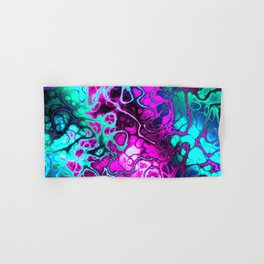 Awesome Fractal in hot pink and teal Hand & Bath Towel