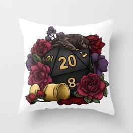 Vampire D20 Tabletop RPG Gaming Dice Throw Pillow