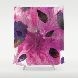 Watercolor Fuchsia Mirage Shower Curtain