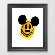 Smiley Mickey Framed Art Print