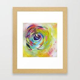 Who Makes Me Happy Framed Art Print