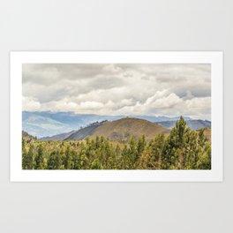 Ecuadorian Landscape at Chimborazo Province Art Print