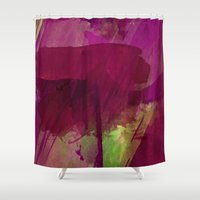 """girly Shower Curtains featuring """"Girly"""" by hayleytheartist"""