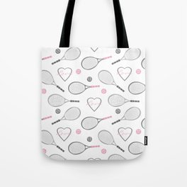 Tennis Love Pattern Tote Bag