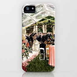 Casey & Davis Swan House Live Painting iPhone Case