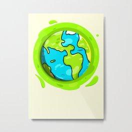 Home/Green. Metal Print