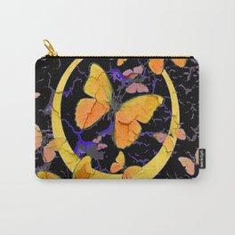 BLACK & YELLOW BUTTERFLIES VIGNETTE ABSTRACT ART Carry-All Pouch