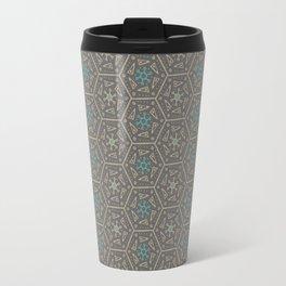 Going round and round - Orange/Taupe/Teal Travel Mug