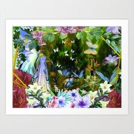 She Who Walks With Butterflies Art Print