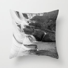 Waterfall and Rocks Throw Pillow