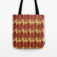 girls Tote Bags featuring Girls by Nahal