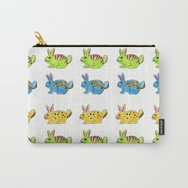 Hipster Bunnies Carry-All Pouch
