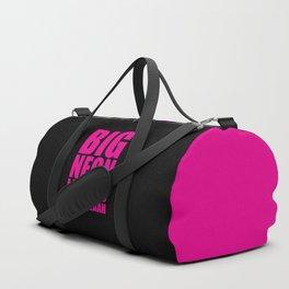 Big Neon Letters EDM Quote Duffle Bag