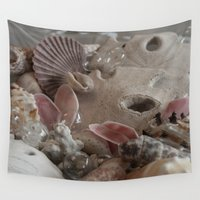 seashell Wall Tapestries featuring Seashell Medley by Ellphoria