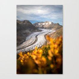autumn by the glacier II Canvas Print
